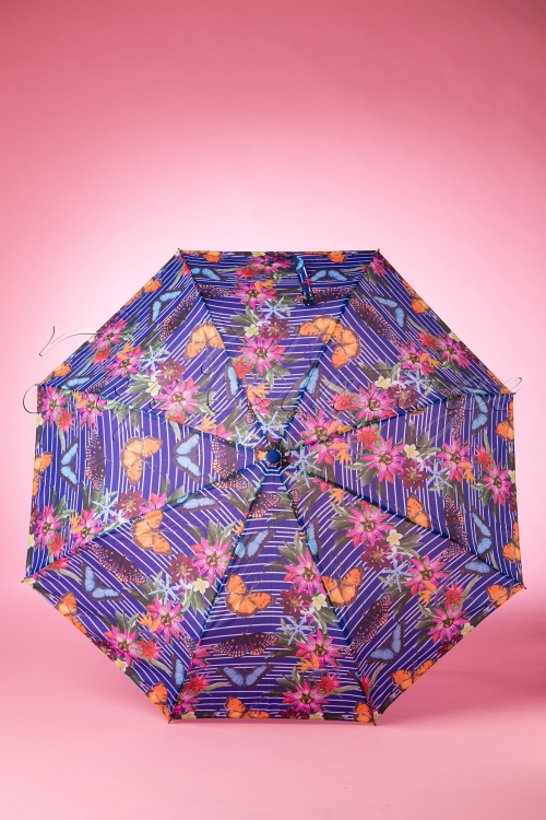 So Rainy Blue Floral Umbrella 270 39 18189 02042016 008W