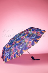 So Rainy Blue Floral Umbrella 270 39 18189 02042016 007W