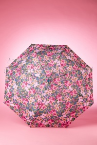 So Rainy Light Blue Floral Umbrella 270 39 18190 02042016 007W