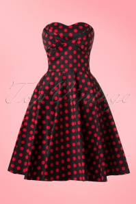 Dolly and Dotty Melissa Black Polkadot Dwing Dress 102 14 18178 20160210 0017W