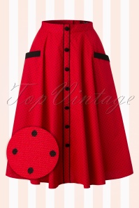 Bunny Martie Polkadot Red Swing Skirt 122 27 18236 20160212 0003WV