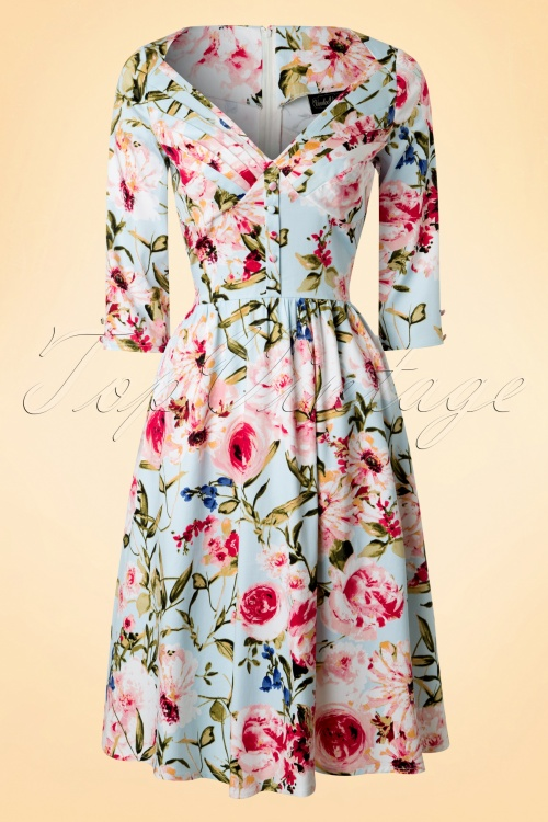 Vixen Blue Floral Swing Dress 102 39 17968 20160215 0008W