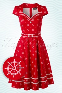 Vixen Red Fun Sailor Swing Dress 102 27 17953 20160215 0005W1