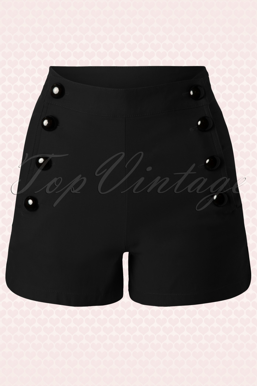 1950s Shorts History 50s Miss Classy Black Shorts £30.02 AT vintagedancer.com
