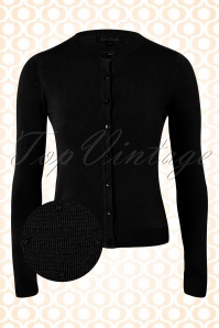 50s Marlene Droplet Cardigan in Black