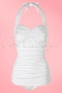 Esther Williams White 50s Bathing Suit 161 50 17568 20160217 0006W