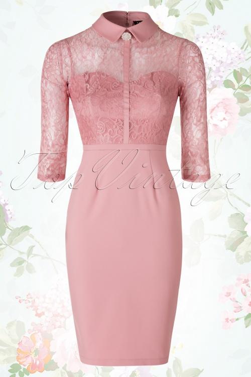 de5980d82bec Paper Dolls Rose Blush Lace Dress 100 22 18398 02172016 008W