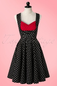 Dolly and Dotty Grace 50s Polkadot Dress in black 102 14 18320 02172016 005c