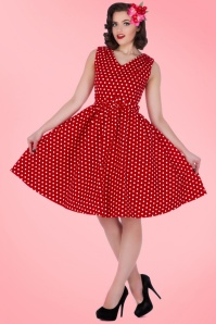 Dolly and Dotty Polkadot Dress in Red 102 27 15970 02172016 012