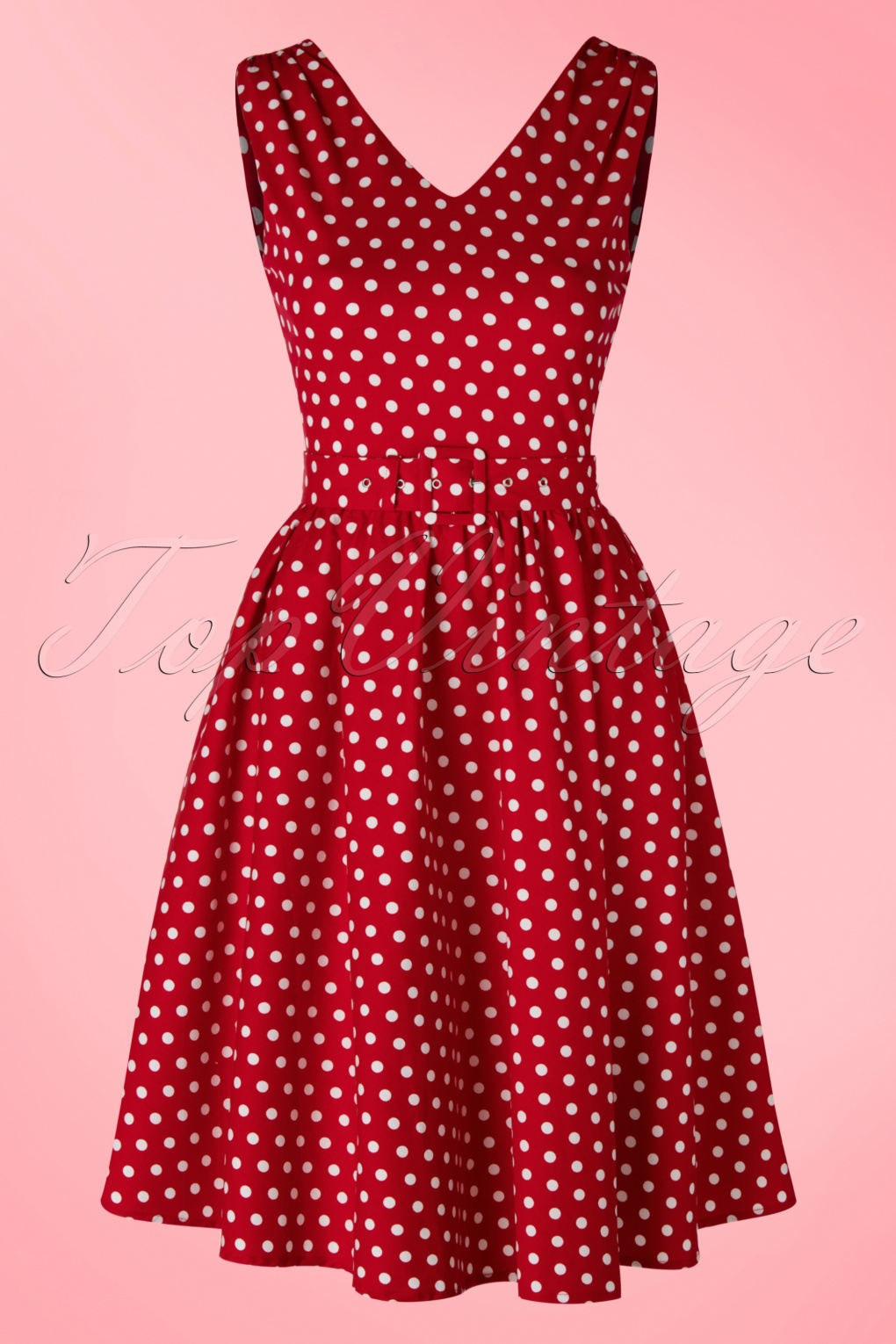 1950s Polka Dot Dresses 50s Wendy Polkadot Swing Dress in Red £38.13 AT vintagedancer.com