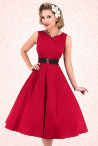 Lady V Red Hepburn Swing Dress 102 20 17777 0