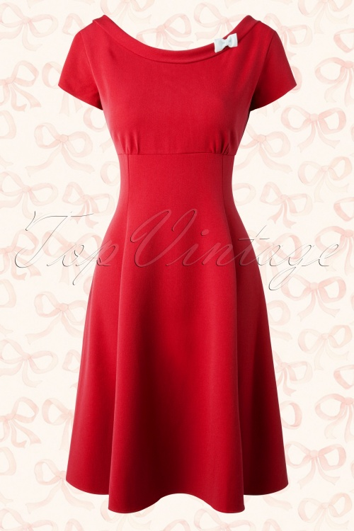 Hulahup Red Bow Swing Dress 17492 20151214 0003W