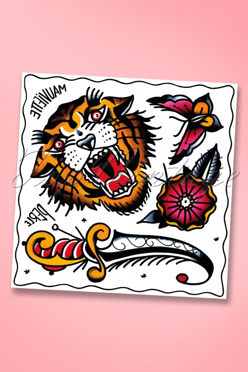 Mauviette Tattoos Perle Tiger 528 70 18392 01