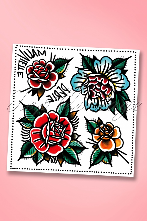 50s Just Give Me Some Roses Tattoos