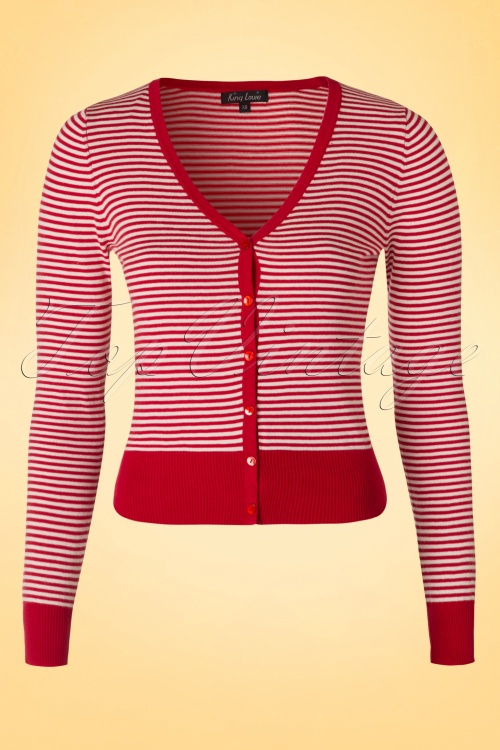 King Louie Red Striped Cardigan 16586 20160224 0005W
