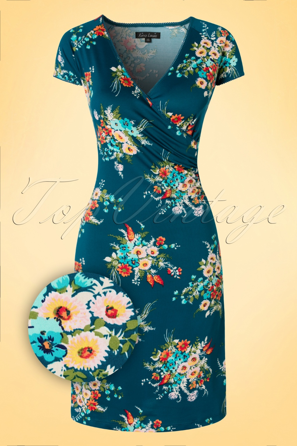 50s Provence Cross Dress In Storm Blue