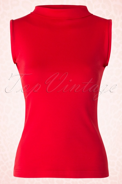 Heart of haute Trixie Red Turtle neck Top 110 20 18170 20160226 0006W