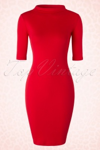 Heart of haute 60s Super Spy Red Dress 100 20 18172 20160226 0004W