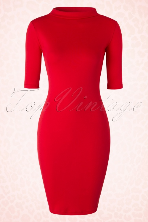 Heart of haute 60s Super Spy Red Dress 100 20 18172 20160226 0004W
