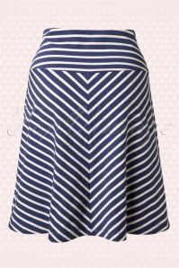 King Louie 60s Sailor Striped Navy Blue Skirt  107 39 13868 20150211 0002W