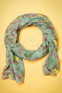 50s Spring Is In The Air Scarf in Green