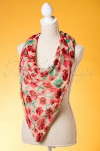 Kaytie Red and Green Poppy scarf 240 57 18332 02292016 008W