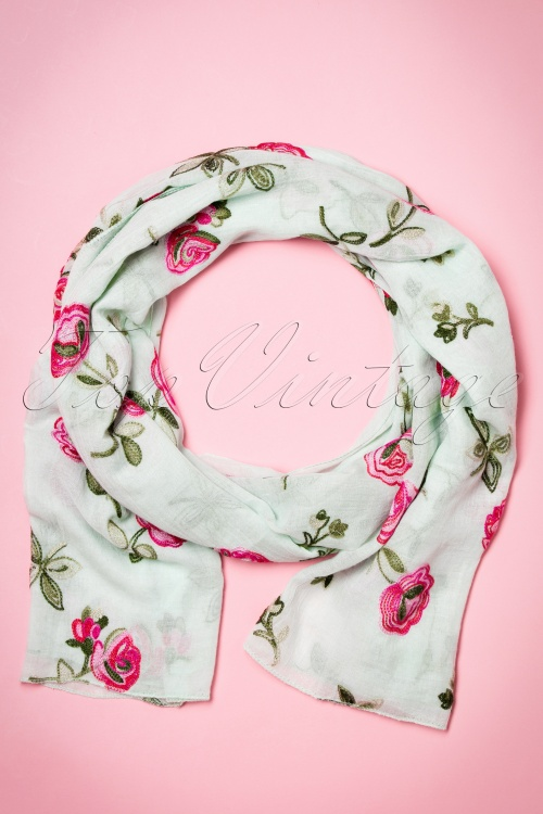 Kaytie Mint Rose scarf 240 49 18329 02292016 005W