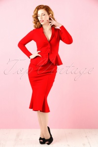 50s Diva Suit Skirt in Red