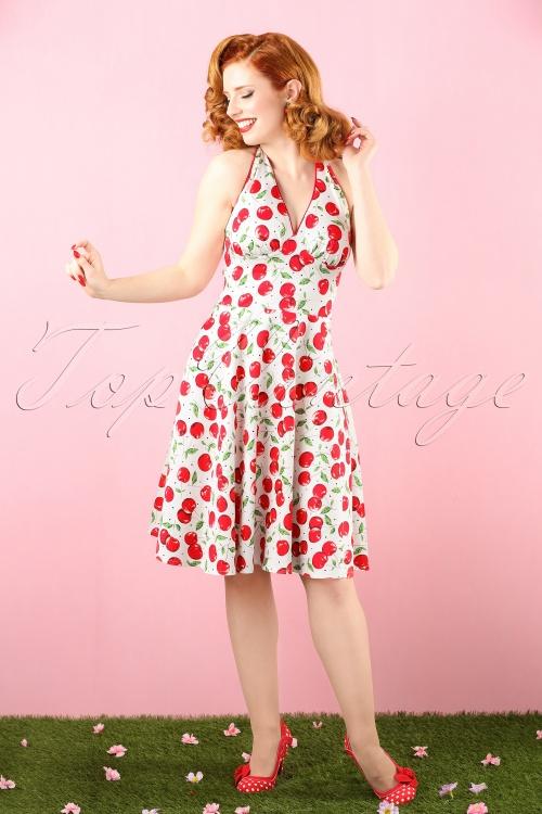 Vixen White Cherry Halter Swing Dress 102 59 15267 20150311 0006 bewerkt crop