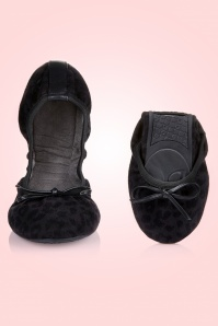Butterfly Twists Cece Leopard Ballerinas Black 410 10 13525 01V