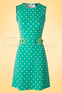 Mademoiselle yeye Mint Green Polkadot 60s Dress 106 49 17920 20160302 0004W