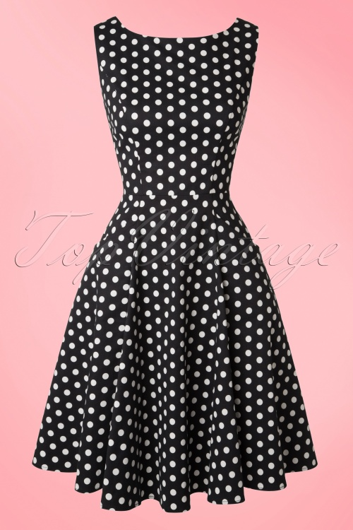 33526e020ef0b Collectif Cloting Hepburn Black and white Polkadot Dress 17673 20151119  0006W