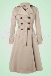 Dietrich Swing Trench Coat in Beige