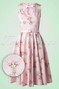Bunny Deery Me 50s Pink Deer Swing Dress 102 29 18255 20160304 0013W1
