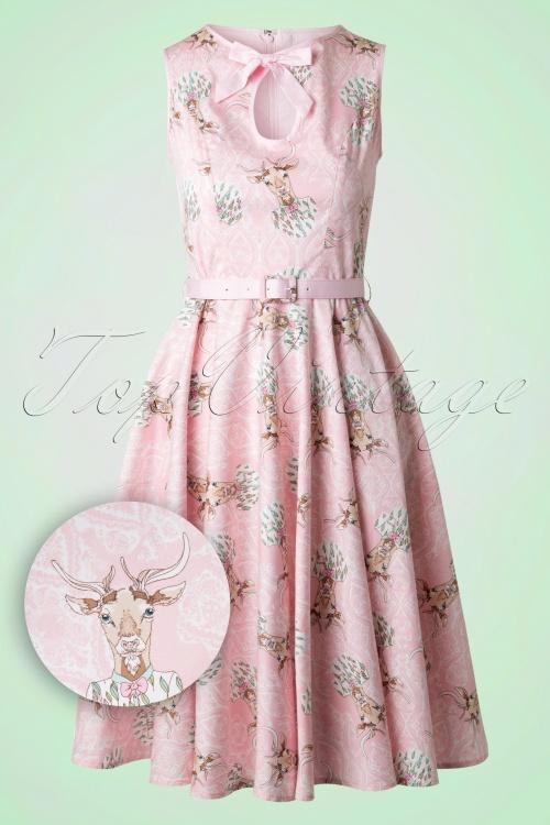 Bunny Deery Me 50s Pink Deer Swing Dress 102 29 18255 20160304 0013W1