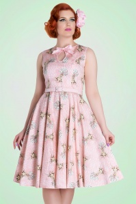 Bunny Deery Me 50s Pink Deer Swing Dress 102 29 18255 20160304 2