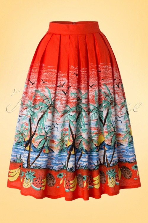 Dancing Days by Banned Orange Tropical Beach Skirt 122 27 17817 20160307 0006W