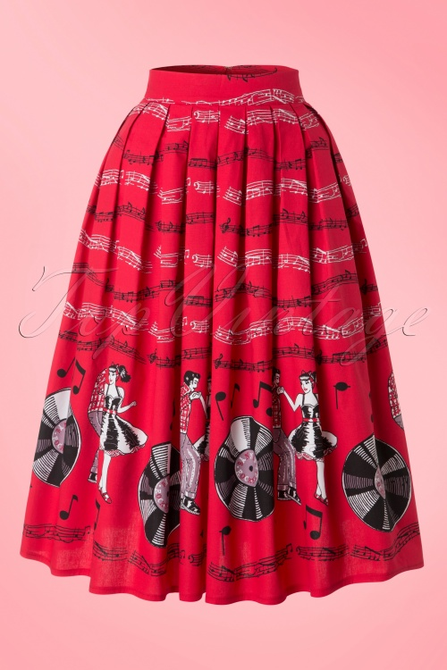 Dancing Days by Banned Cindy Red 50s Dance Skirt 122 27 17816 20160307 0008W