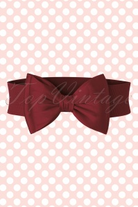 50s Wow to the Bow Belt in Burgundy