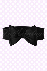 Banned Retro 50s Bella Bow Belt in Black
