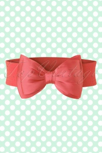 Banned Bow Belt in Coral 230 22 17872 20160308 0003W