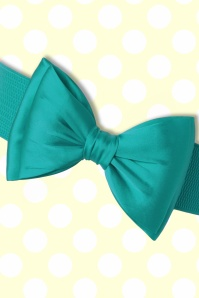 Banned Bow Belt in Teal Blue  230 40 17876 20160308 0008W