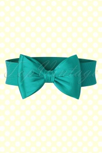 Banned Bow Belt in Teal Blue  230 40 17876 20160308 0007W