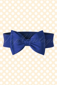 50s Wow to the Bow Belt in Royal Blue