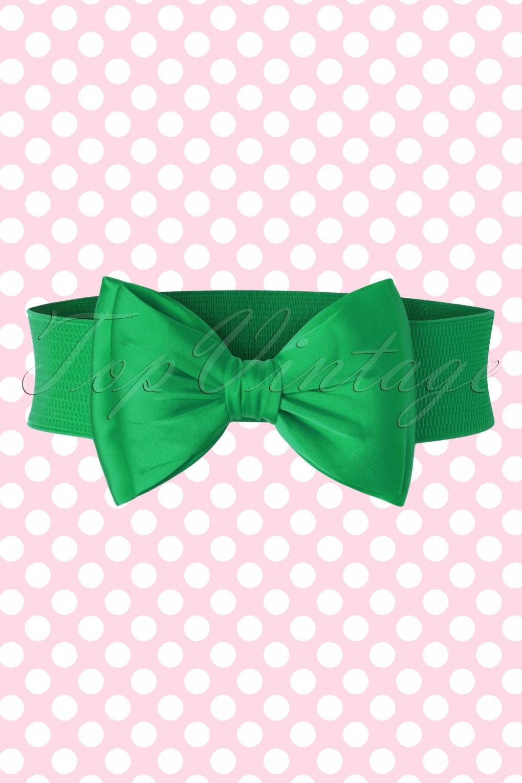 Vintage Wide Belts, Cinch Belts 50s Wow to the Bow Belt in Green £11.47 AT vintagedancer.com