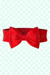 Banned Retro 50s Bella Bow Belt in Red