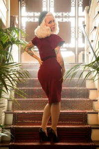Pinup Couture Venus 50s Dress Burgundy  100 20 17835 3