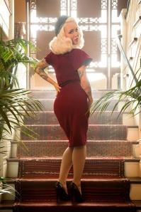 Pinup Couture Venus 50s Dress Burgundy  100 20 17835 3