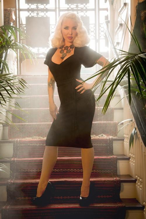 Pinup Couture Venus 50s Dress Black  100 20 17836 20160309 2