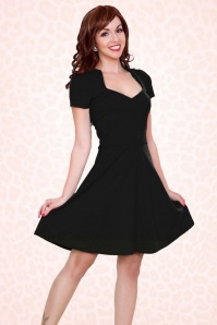 TopVintage Exclusive ~ 50s All Angles Dress in Black
